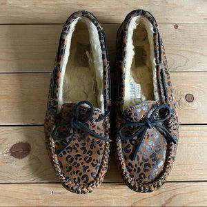 Ugg Leopard Print Moccasin Slippers